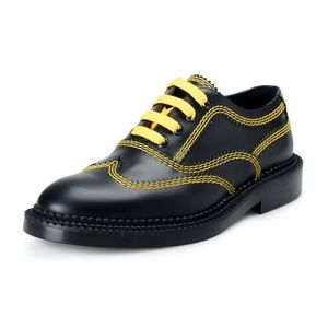 Burberry Black Leather Casual Oxfords Shoes